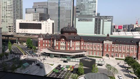 Tokyo station under the blue sky 영상물