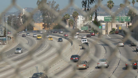 Hollywood Freeway Fence Footage