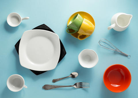 kitchenware at abstract background Photo