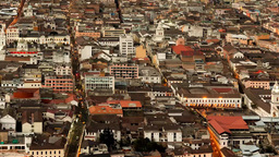 Quito Overview stock footage