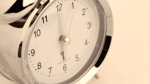 Alarm clock in time lapse Footage