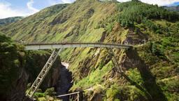 Banos de Agua Santa bungee jumping Footage
