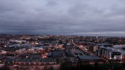 Evening Timelapse From Above stock footage