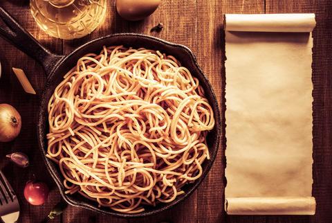 ready pasta on wood Photo
