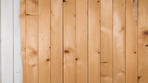 Wooden boards staining white 영상물