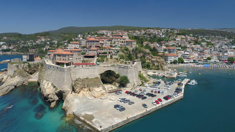 Aerial view of the old city of Ulcinj 영상물
