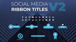 Social Media Ribbon Titles v2 モーショングラフィックステンプレート