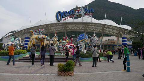 Main Entrance To Ocean Park Hong Kong Footage