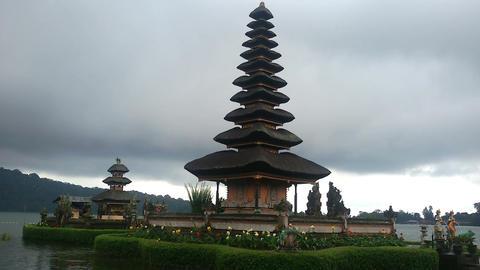 Temple Pura Ulun Danu Bratan Footage
