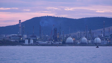 IZMIR, TURKEY - MAY 2015: view of Aliaga oil refinery Footage