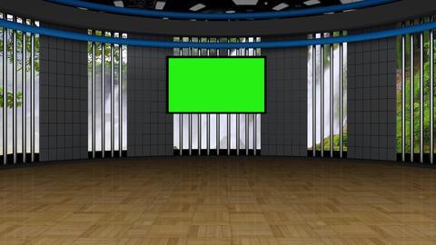 News TV Studio Set 134 - Virtual Green Screen Background Loop Footage