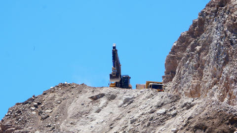 DATCA, TURKEY - MAY 2015: quarry, stone pit work area Footage