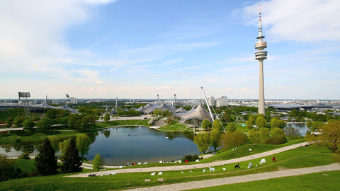 Olympic park in Munich, Germany Footage