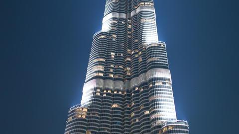 night light highest building dubai 4k time lapse Footage