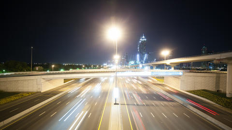 time lapse of high traffic crossroads in dubai Footage