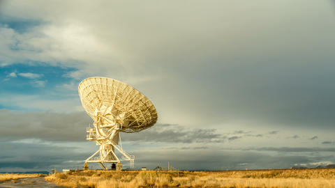Radio Telescope Searches Sky Footage