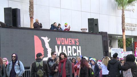 Women's March LA, Wide Footage
