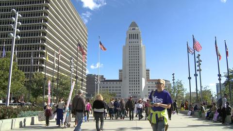 LA City Hall Women's March Footage