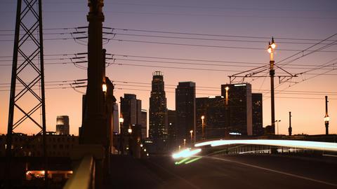 LA Nightfall Time-lapse ビデオ