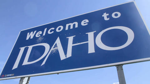 Welcome To Idaho Sign, Pan Live Action
