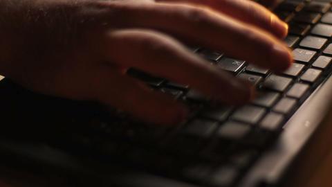 Laptop Keyboard Typing Footage