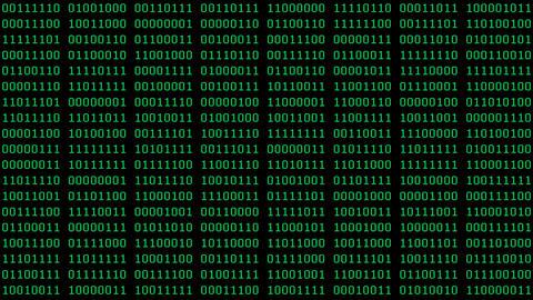 Green 8-Bit Binaries Screensaver Animation
