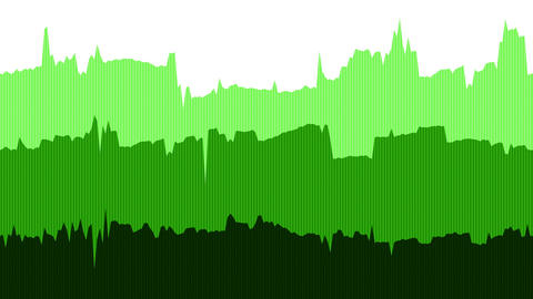 Green Data Line Graph Animation