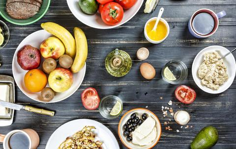 Set, different breakfasts. Healthy breakfast, diet, egg, avocado, cheese, Photo