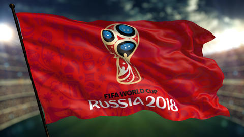 Russia Football worldcup 2018. World Sport Event . flag animation Animation