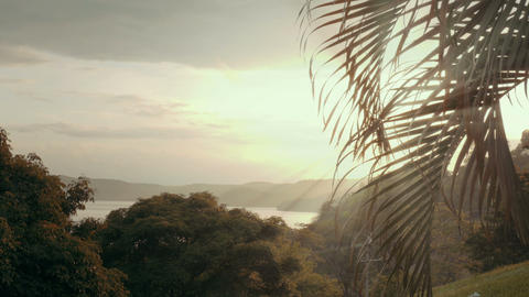 Establishing shot of a tropical paradise Footage