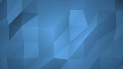 Low Poly Background, Blue Animation