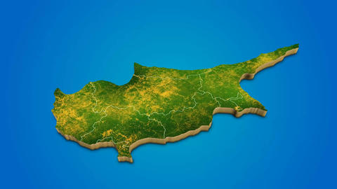 Cyprus country map satellite camera zoom in sky effect shot visualization After Effects Template