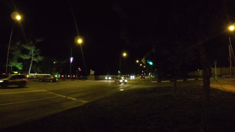 Night crossroad time lapse Footage