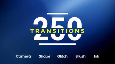 250 Transitions After Effectsテンプレート