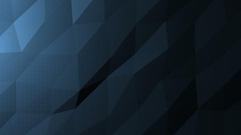 Low Poly Background, Dark Blue Animation