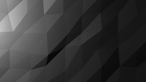 Low Poly Background, Dark Gray Animation