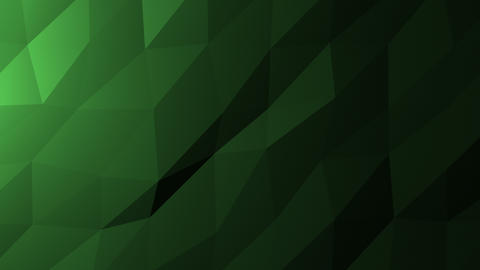 Low Poly Background, Dark Green Animation