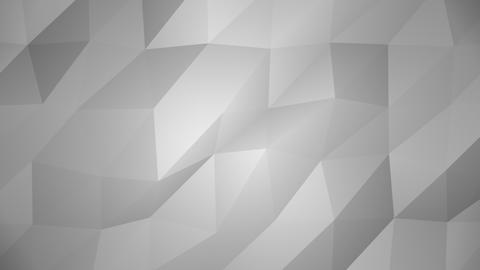Low Poly Background, Gray Stock Video Footage