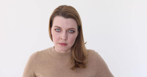 Angry and frustrated woman Isolated on white Live Action