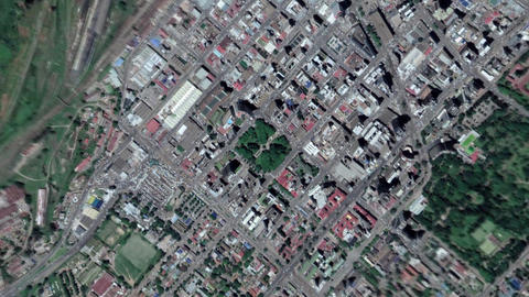 Earth Zoom In Zoom Out Harare Zimbabwe Live Action