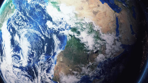 Earth Zoom In Zoom Out Brazzaville Republic of the Congo Live Action