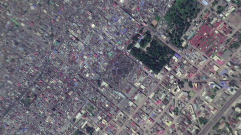 Earth Zoom In Zoom Out Kinshasa Democratic Republic of the Congo Live Action