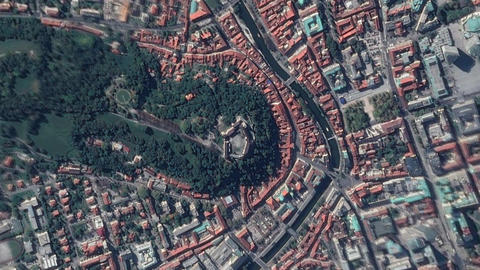 Earth Zoom In Zoom Out Castle Ljubljana Slovenia Live Action
