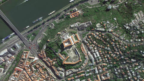 Earth Zoom In Zoom Out Bratislava Slovakia Live Action
