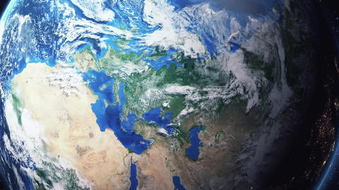 Earth Zoom In Zoom Out Kiev Ukraine Live Action