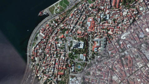 Earth Zoom In Zoom Out Sultan Ahmet Mosque Istanbul Turkey Live Action