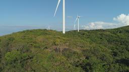 Solar Farm with Windmills. Philippines, Luzon ビデオ