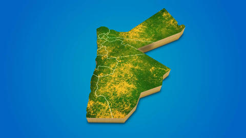 Jordan country map satellite camera zoom in sky effect shot visualization After Effects Template