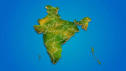 India country map satellite camera zoom in sky effect shot visualization After Effects Template