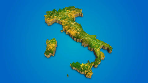 Italy country map satellite camera zoom in sky effect shot visualization After Effects Template
